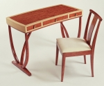 Bubinga Desk and Chair