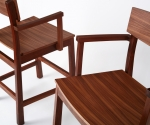 Walnut Bar Chair Detail