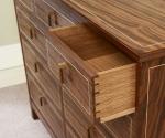 Walnut Dresser Drawer Detail