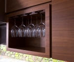 Built-In Wine Glass Cabinet